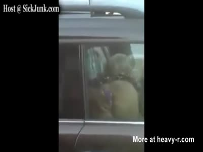 Blowjob And Assplay While Driving