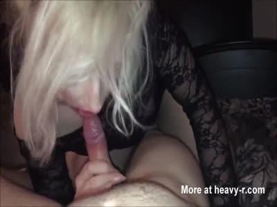 Blonde Slut Sucking My Dick