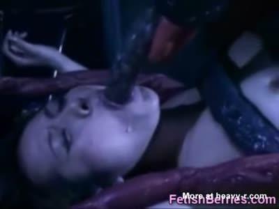 Alien Tentacles Destroy Girl