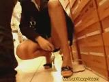 Girl gets dirty in public