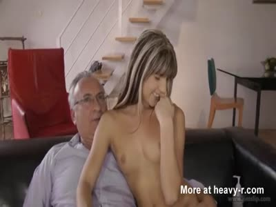 Petite Blonde Teen Fucking Old Guy
