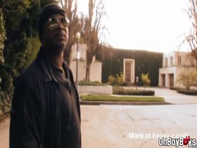 Sucking a big black dudes big thick dick
