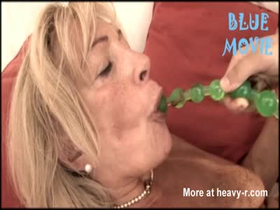 Granny Licking Off Her Anal Beads