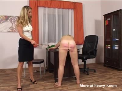 Brutal Caning During BDSM Casting