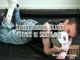 Sweet Rubber Skater Twink in Scat Love