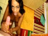 POV Ebony Tugging