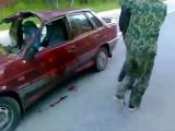 Awesome bloody car wreck