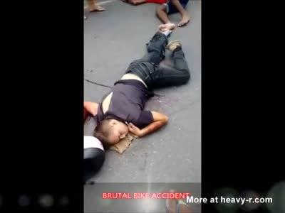 BRUTAL BIKE ACCIDENT