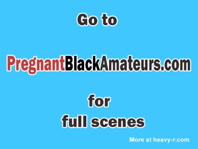 Black pregnant amateur enjoys sex in a tub