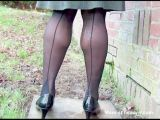 TGirl Enema Stockings 601