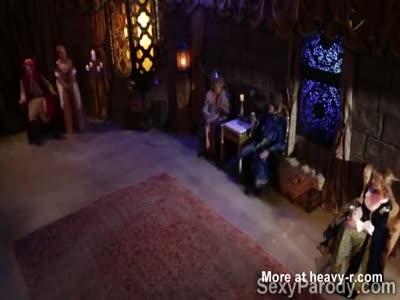 Three filthy magical fairies suck off the Kings royal bone