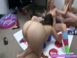 Naked Twister Turns Into Group Sex