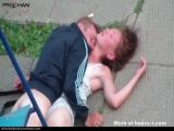 Guy try to rape unconscious girl in public garden