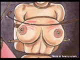 Breast puncture bdsm torture cartoon