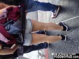 Cute Girl In Short Shorts