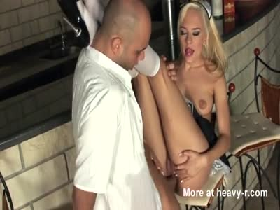 Blonde Maid Fucking In Her White Uniform