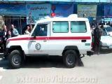 Ambulance runs into the people
