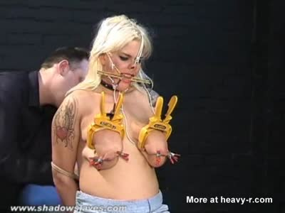 Busty Amateur Gets Tits Clamped