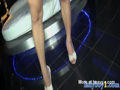 Busty ladyboy gal from Thailand POV style blowjob action