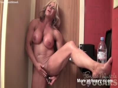Muscular Lady Toys Massive Clit