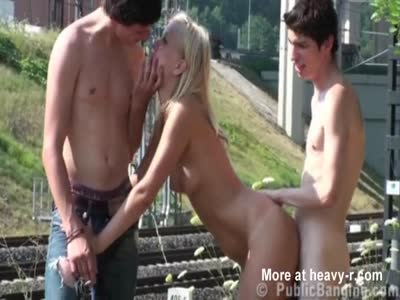 Teen Public Threesome