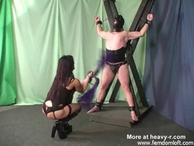 Double Flogging Male Slave