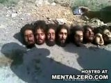 Taliban heads put on display