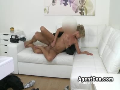 Slim Blonde Casting Fucked