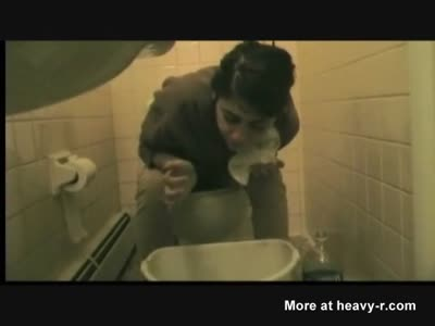 Puking In A Toilet