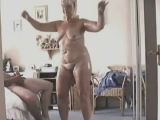 Older woman dancing
