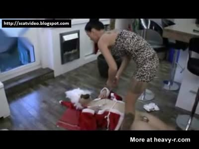 Santa Punished With Piss And Shit