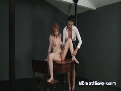 Busty Mistress Vibrates Hairy Pussy
