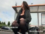 Chubby Andreas public nudity and naughty mum flashing outdoo