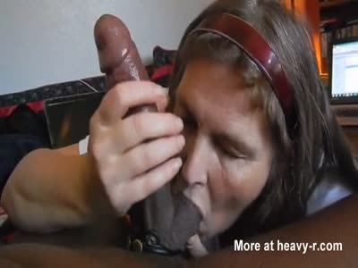Mature Blowing Black Dick And Swallows Cum