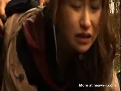 Japanese Schoolgirl Gang Raped In The Woods