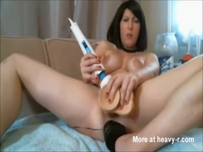Squirting And Intense Orgasm After Triple Toying