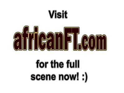Sexy African enjoys riding a big cock