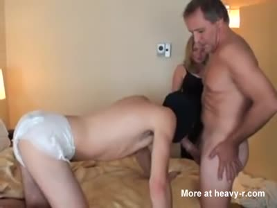 """Mistress """"Mommy"""" Makes Her Baby Slave Suck Dick"""