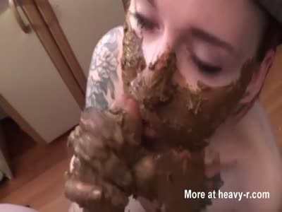 Messy Scat Blowjob