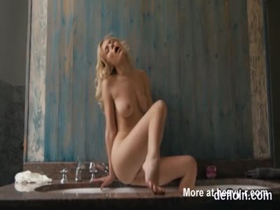 Sultry sweetie spreads narrow pussy and gets deflorated