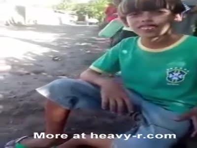 Kid shot