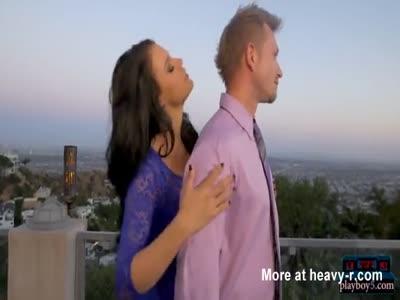 Busty pornstar Peta Jensen horny rooftop suck and fuck