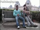 Public Threesome At Paris Louvre