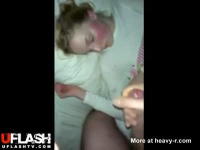 Sleeping Girlfriend Facial