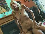 Old slut riding cock