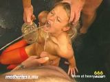 Blonde Deepthroat And Piss Drinking