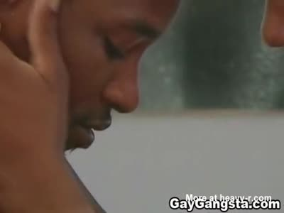 Wet Gay Gangster Fucked By A Huge Black Cock