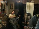 Drunk Russian Man Stabs His Friend