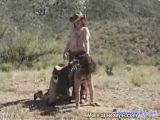 Slut used for pony ride