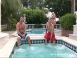 Busty Blonde Fucked By Two Guys